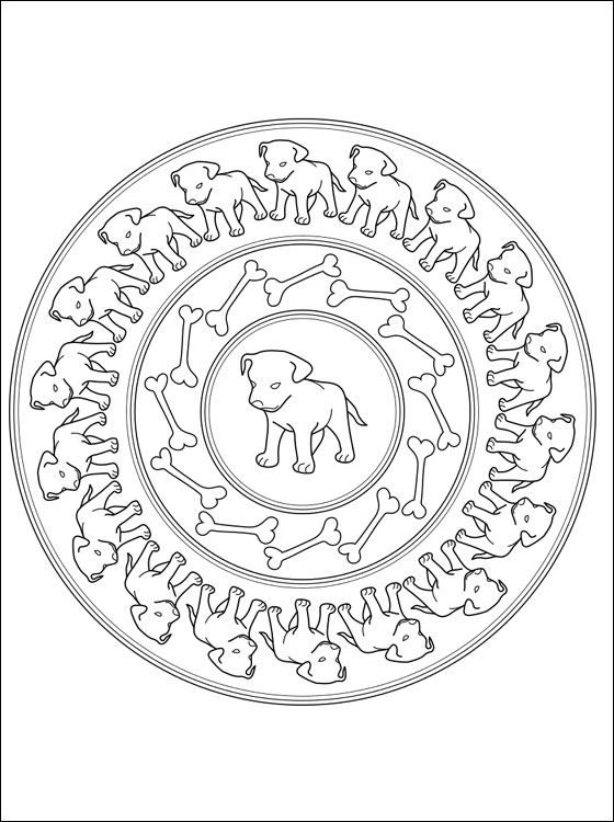 coloring mandalas fruit mandala coloring page with puppies free printable page with mandala