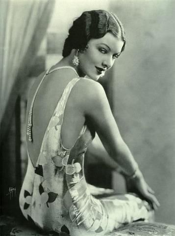 Myrna Loy...it's all about the back! Thanks to Boylerpf Antique Vintage Jewelry