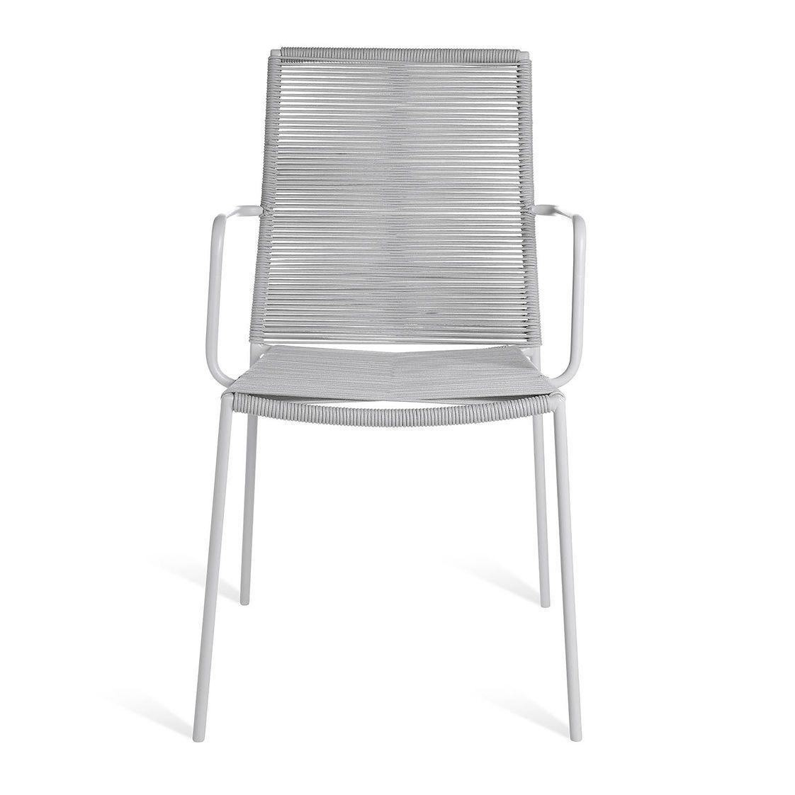 Stuhl Rope 50x615x89cm Grau Gartenstühle Gartenstühle