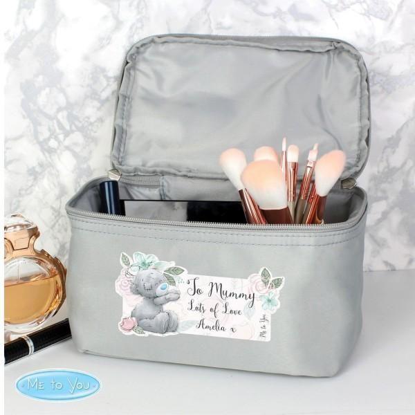 Personalisierte mich zu Ihnen Floral Grey Vanity Bag
