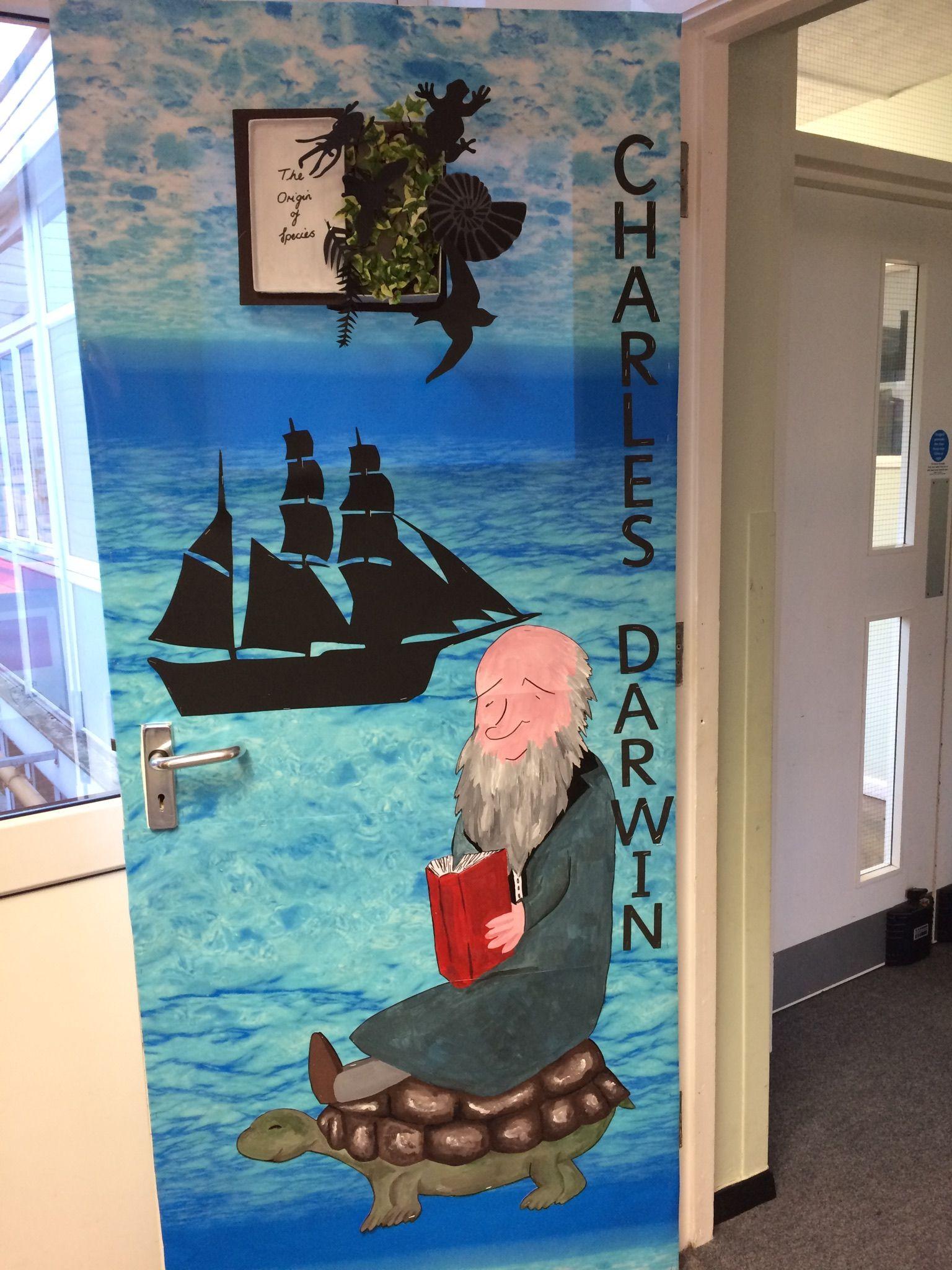 Charles Darwin Door Display Charles Darwin Darwin
