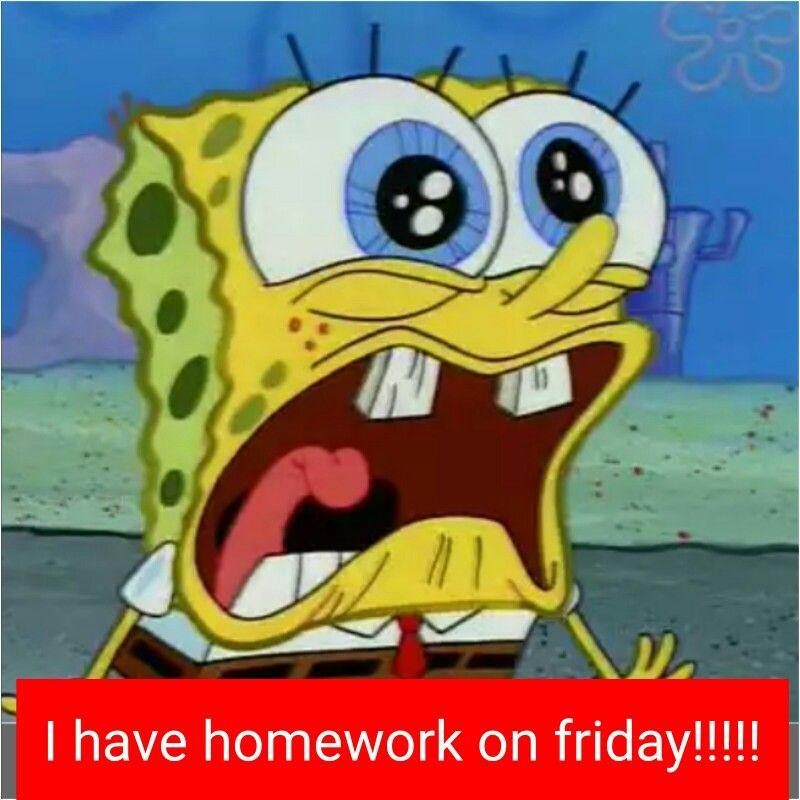 Pin by Luna Kitzman on Spongebob 2 Spongebob, Homework