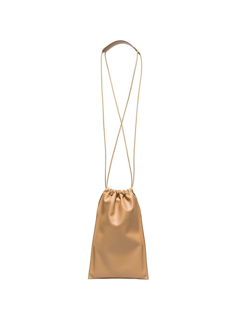 Jil Sander Drawstring Shoulder Bag In Neutrals Modesens In 2020 Shoulder Bag Jil Sander Bag Bags