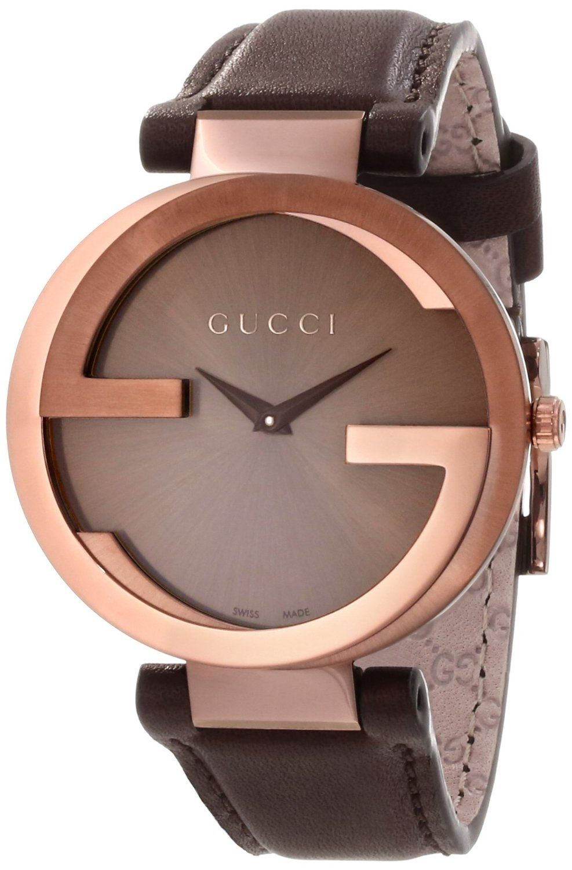Gucci Watches Gucci Women S Ya133309 Interlocking Brown Strap Watch Disclosure Affiliate Link 950 00 Relogio Gucci Relogios Fashion Relogio Feminino