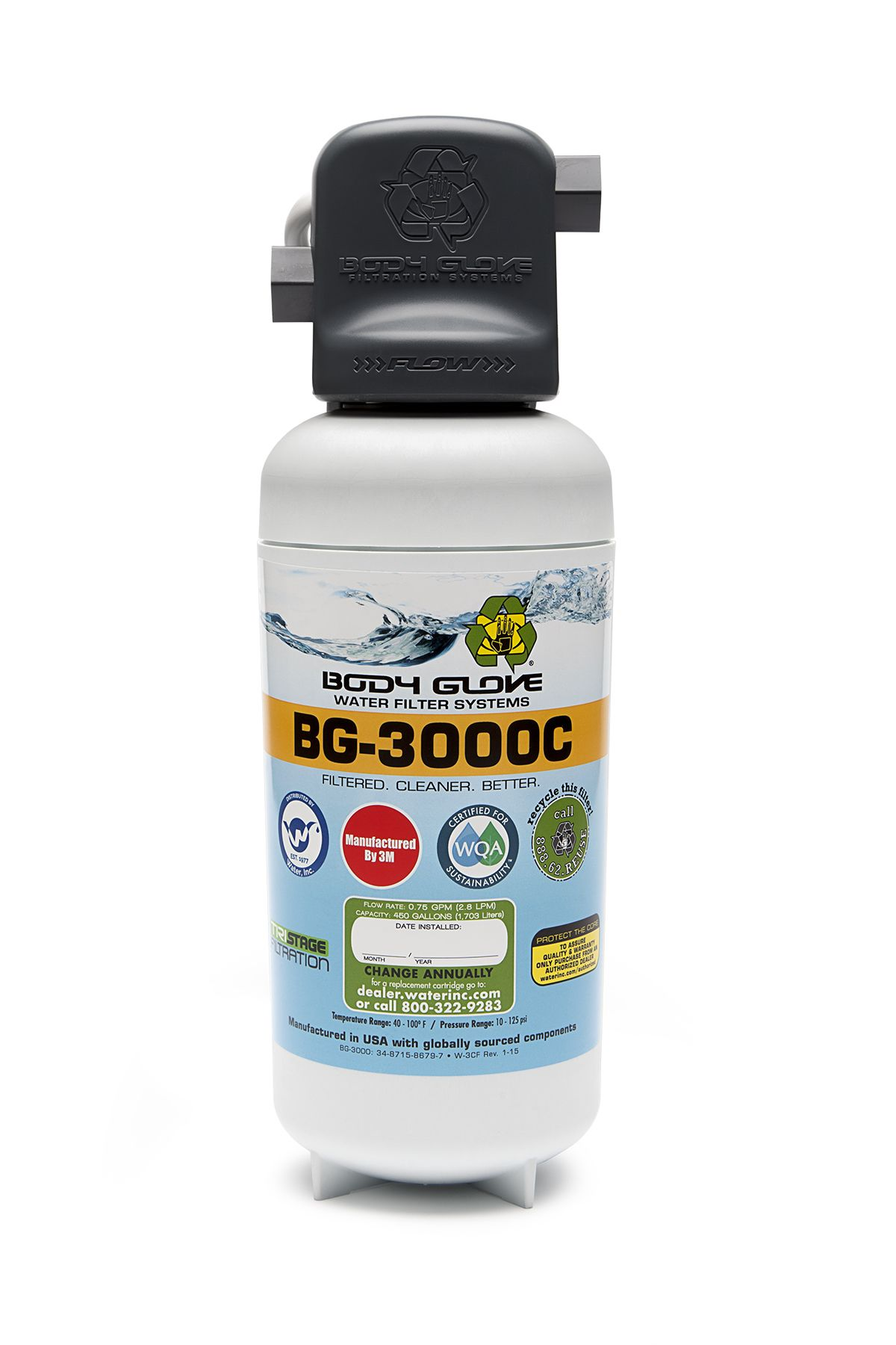 Bg 3000 Body Glove Water Filter System Level 2 Filtration Most Por Great Protection
