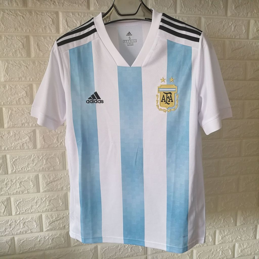 8692250a7 Argentina 2018 World Cup Home Men Soccer Jersey Personalized Name and Number  - zorrojersey