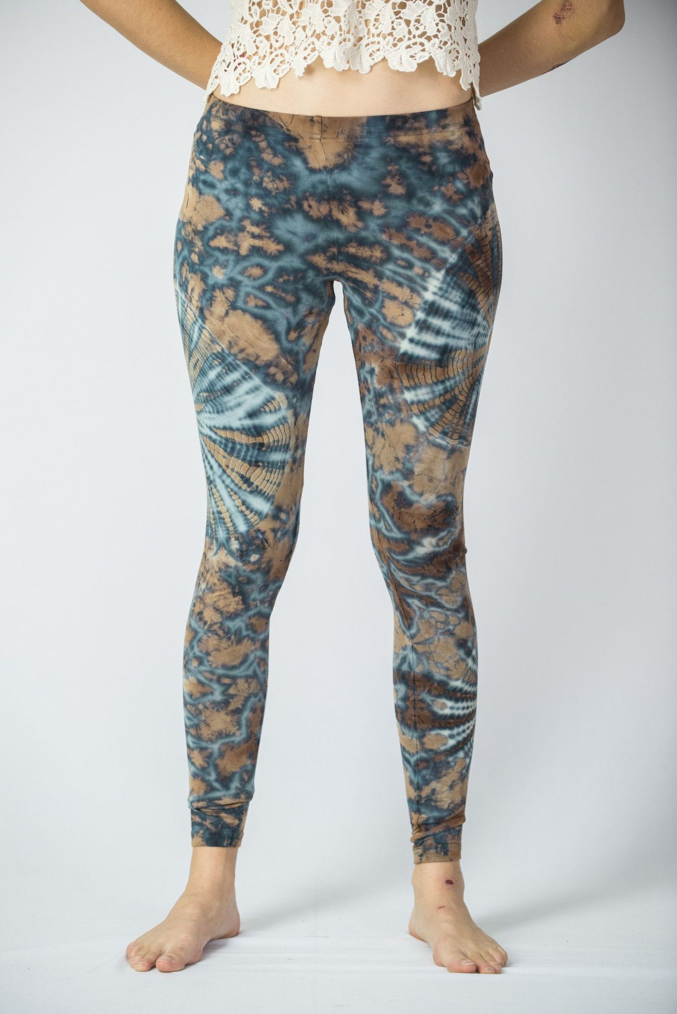 cc41e092a7ba Unique electric designs tie dye leggings made from soft cotton material.  Free international shipping on