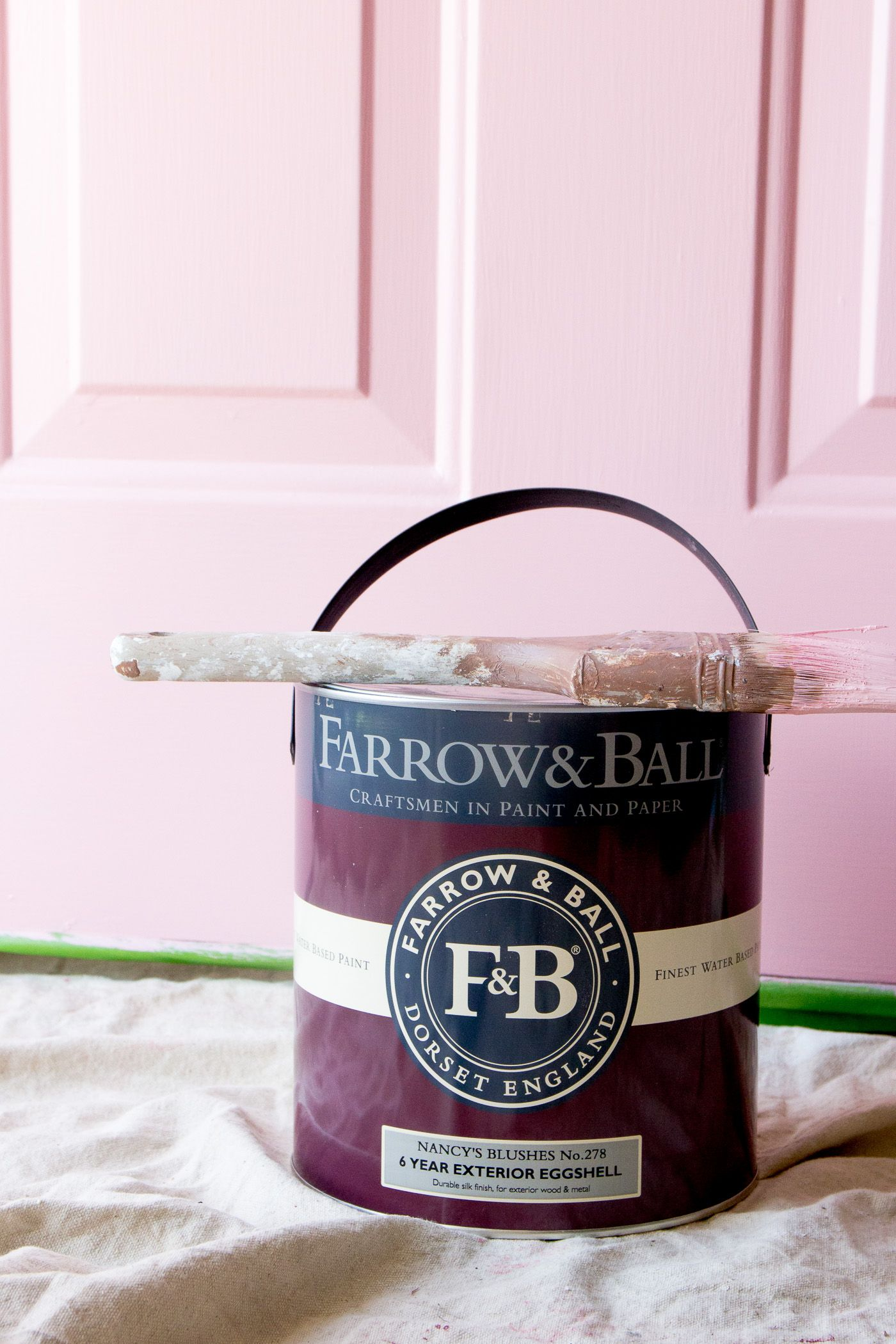 Painting Our Front Door With Farrow Ball Farrow Ball Front