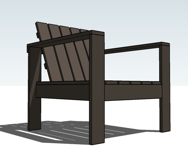 Ana White | Build a Simple Outdoor Lounge Chair | Free and ...