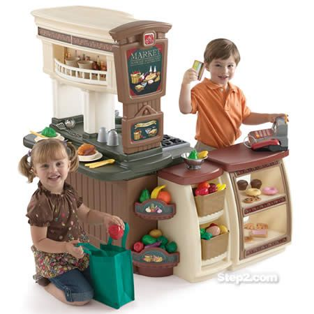 The Ultimate Gift Step 2 Fresh Market Kitchen Giveaway Kids Play Kitchen Kids Playing Play Kitchen Sets