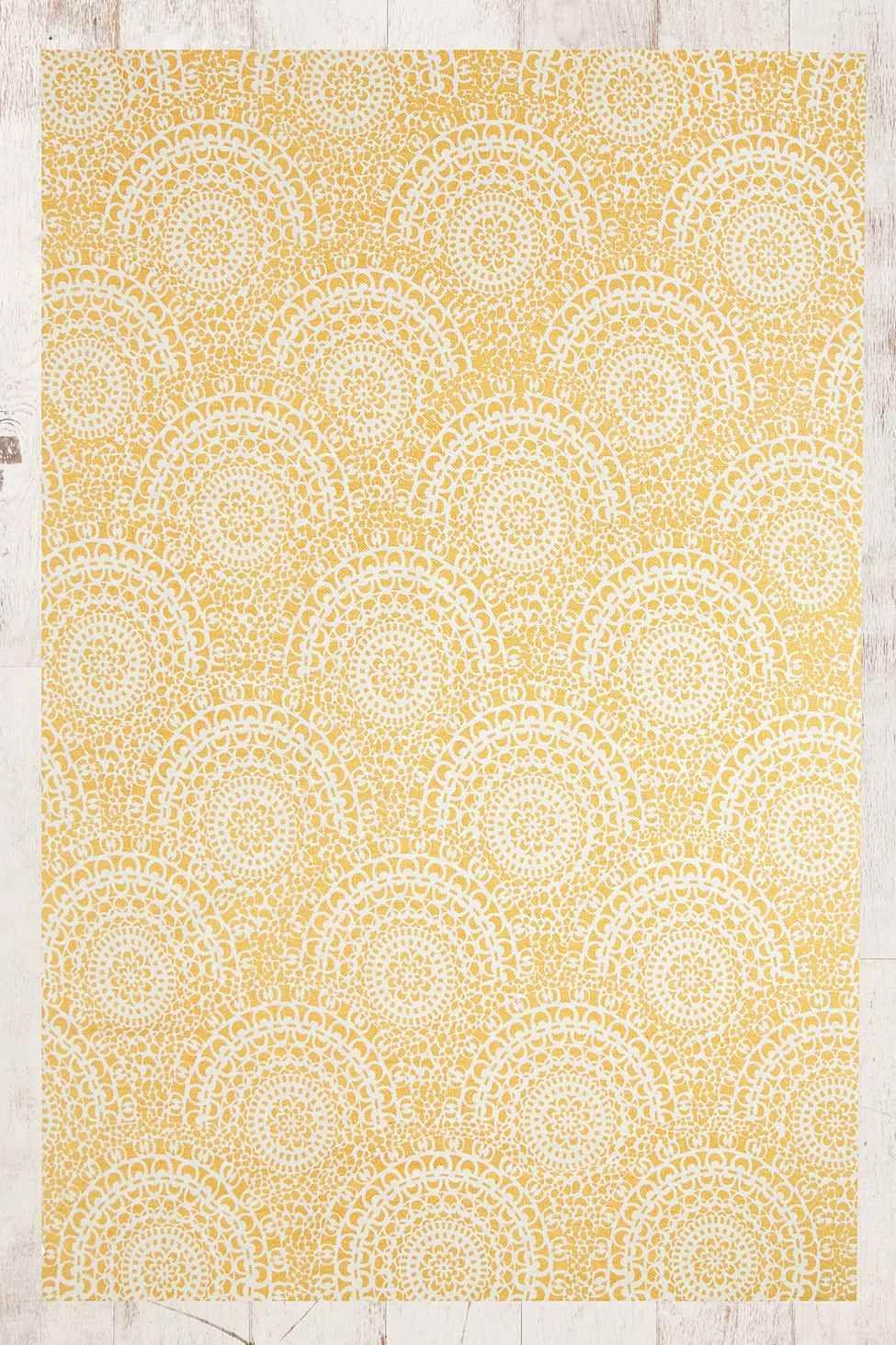 Gossamer 5x7 Rug In Yellow Tapis Bordures Couleur Jaune