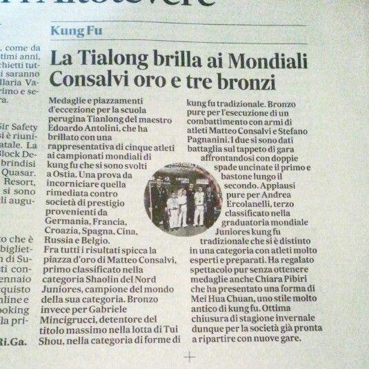 #perugia il kung fu del maestro Edoardo Antolini conclude più che bene il 2014! Info www.tianlongkungfu.com