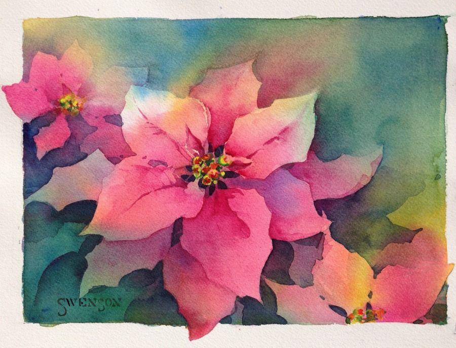 Watercolor Arts Peinture Fleurs