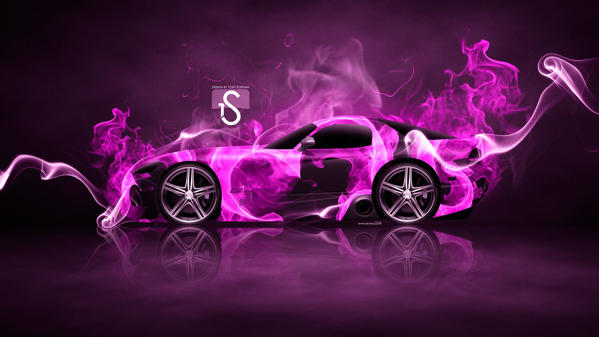Dodge Viper SRT Front Fire Abstract Car 2014 Photoshop HD Wallpapers Design By Tony Kokhan [www.el Tony.com]  | El Tony.com | Pinterest | Dodge Viper, Viper ...