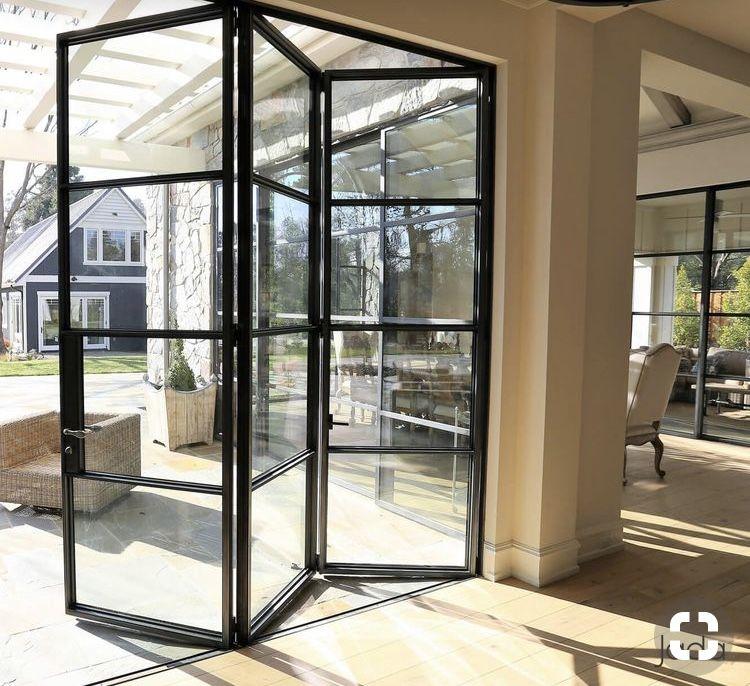 Pin By Holly Gardner On New House Steel Doors And Windows Folding Patio Doors Door Design