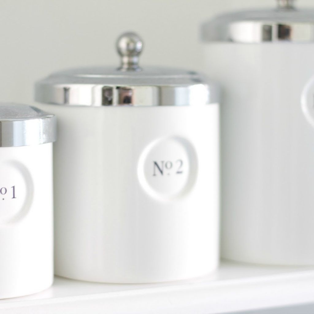 Download Wallpaper White Kitchen Canisters Sets