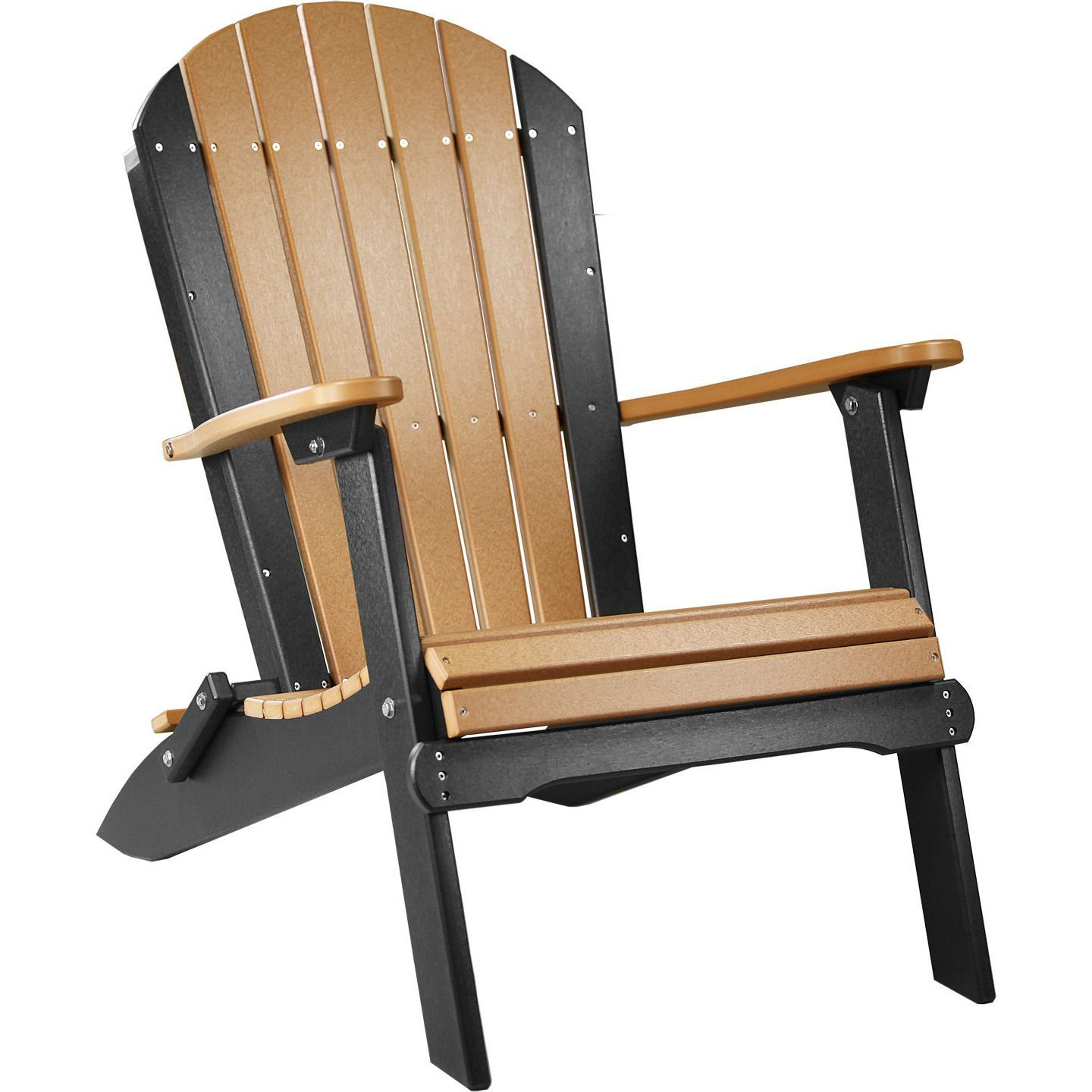 LuxCraft Folding Recycled Plastic Adirondack Chair