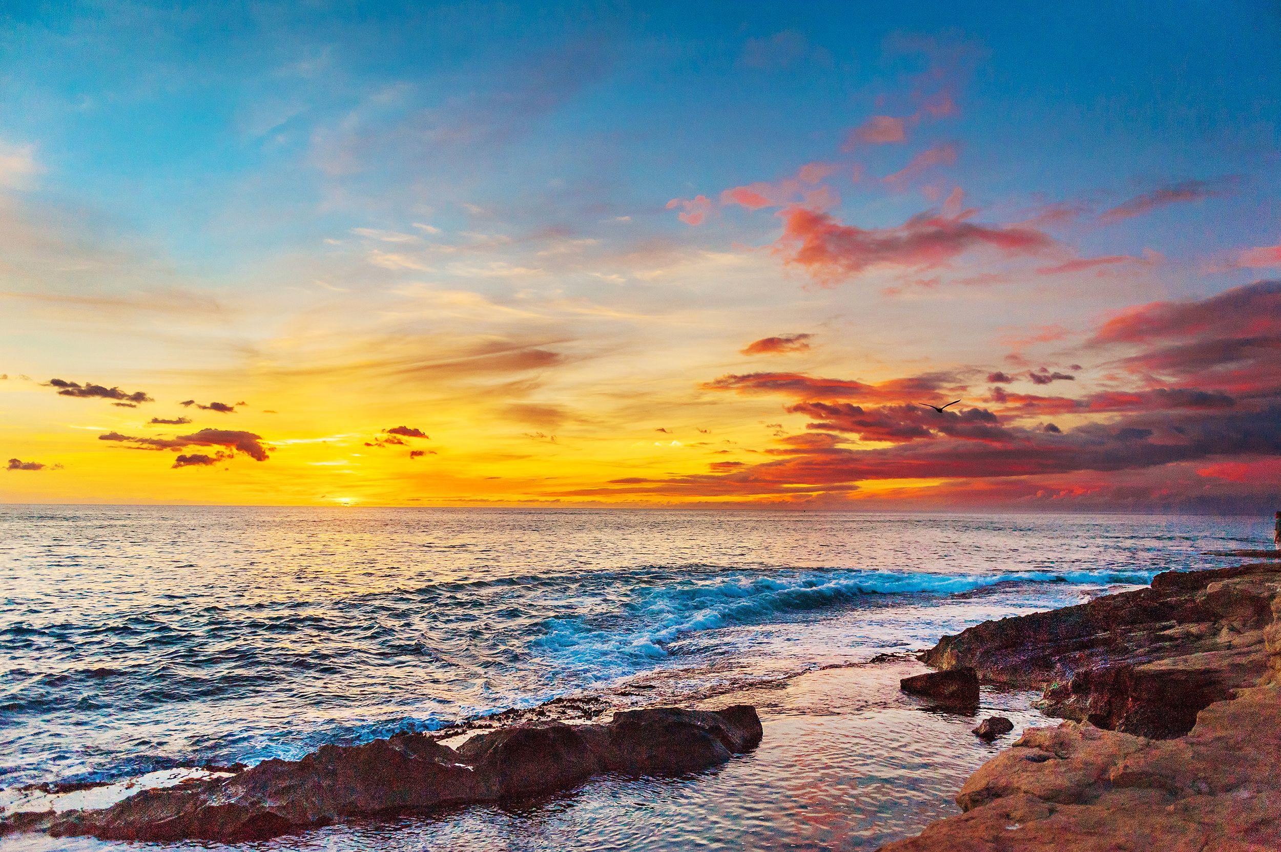 Sunset Print Art Ocean Photography Digital Download Ocean Photography Landscape Photography Hawaii Wall Art