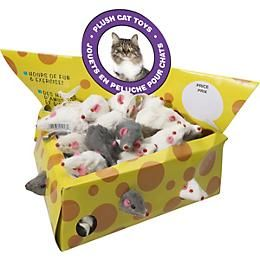 Spot Plush Mice Cheesebox Cat Toy 24 Pack 1800petsupplies Com Cat Toys Pet Toys Cat Accessories