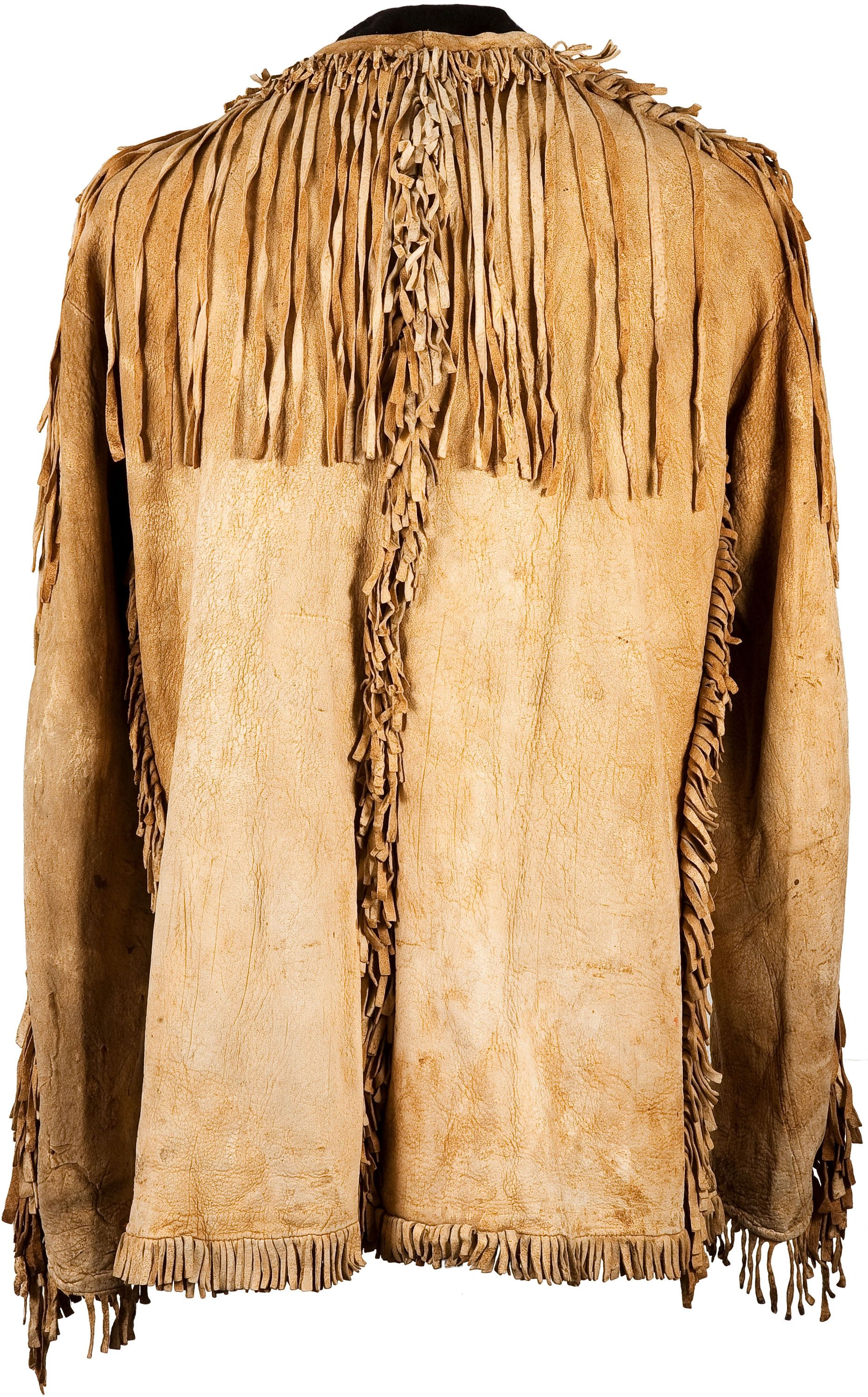 A Plains Fringed Hide Scout Jacket C American