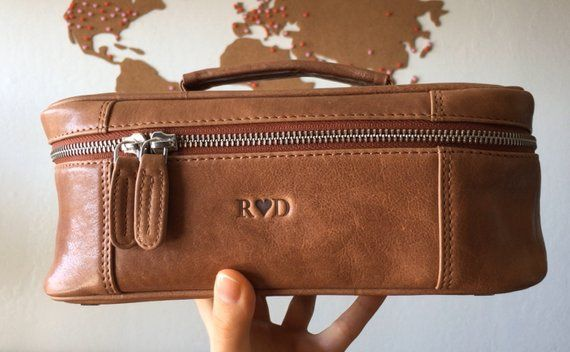 a0e12f097ad5 Toiletry bag men - Personalized mens toiletry bag - Leather toiletry ...