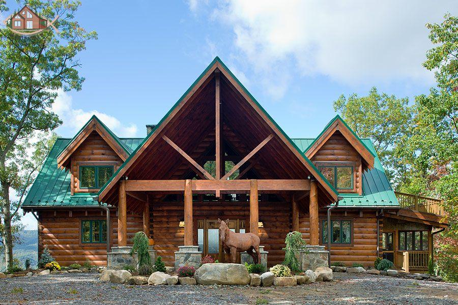 Sikkens log siding butternut exterior stain options for Log siding house plans