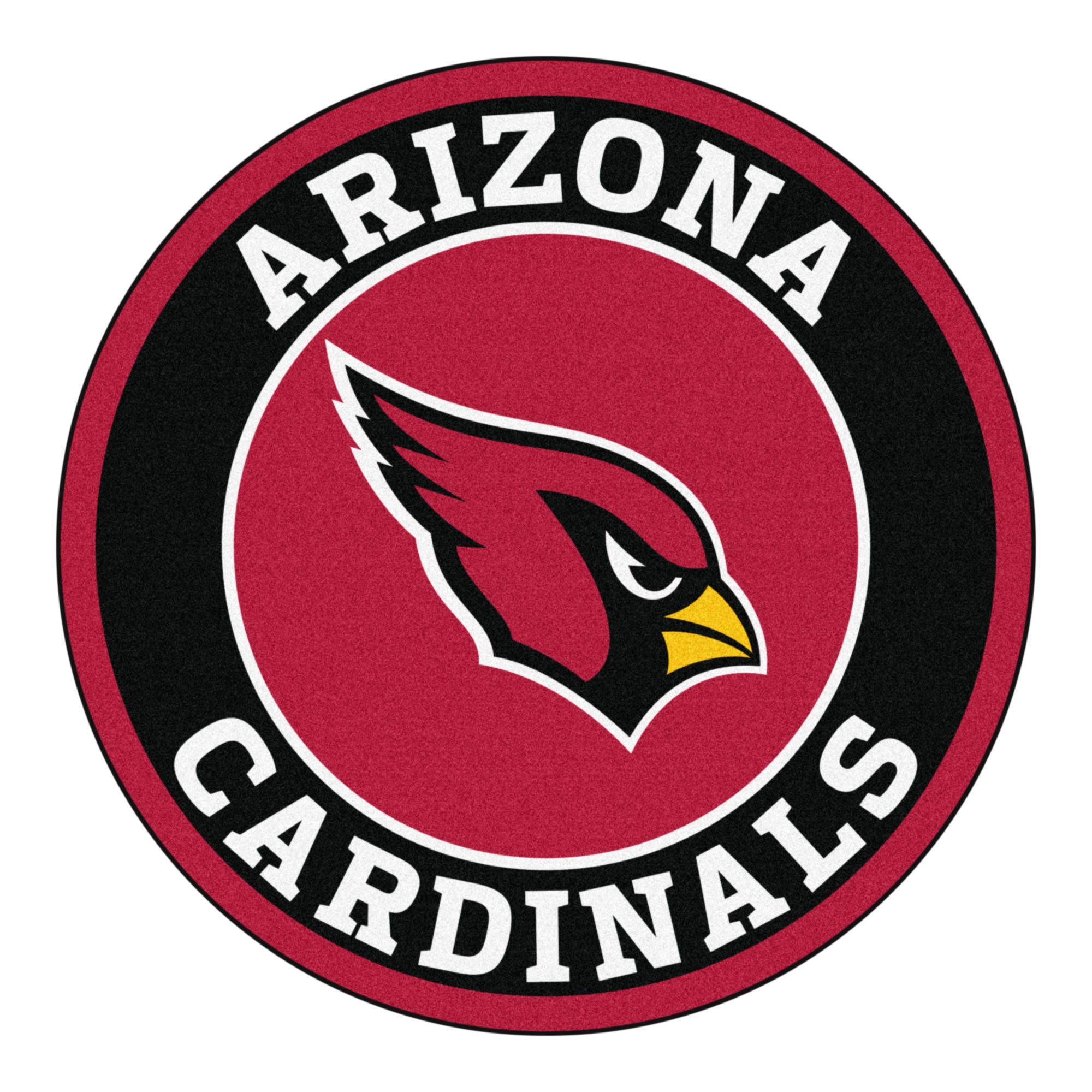 NFL Arizona Cardinals Rounded NonSkid Mat Area Rug in