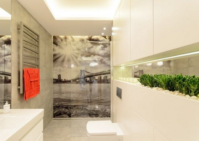 badezimmer-ideen-kleine-bader-fototapete-schwarz-weiss-bild - fototapete für badezimmer
