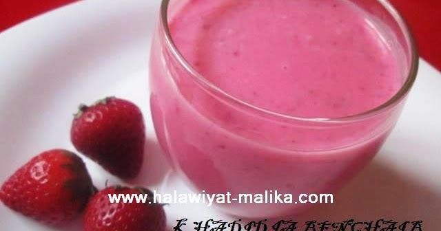 عصير الفراولة والياغورت رووعة Desserts Food Blog