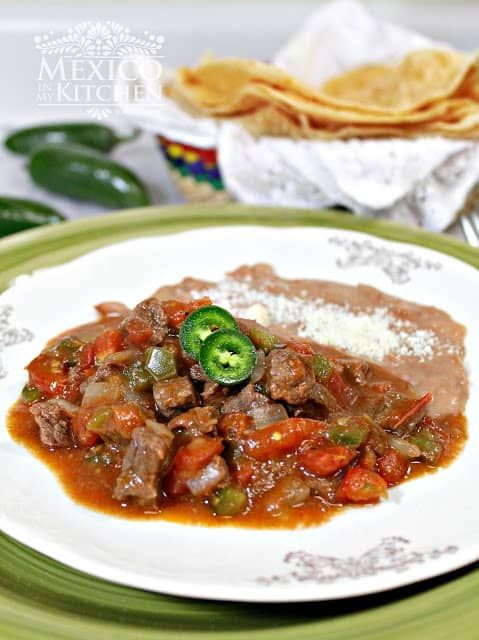 A beef stew to serve with flour tortillas #mexicancooking