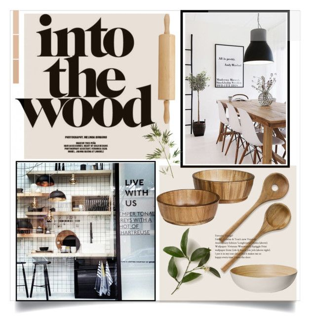 """""""Modern wood"""" by tanyaf1 on Polyvore featuring interior, interiors, interior design, home, home decor, interior decorating, Threshold, Williams-Sonoma, Pier 1 Imports and Magasin"""