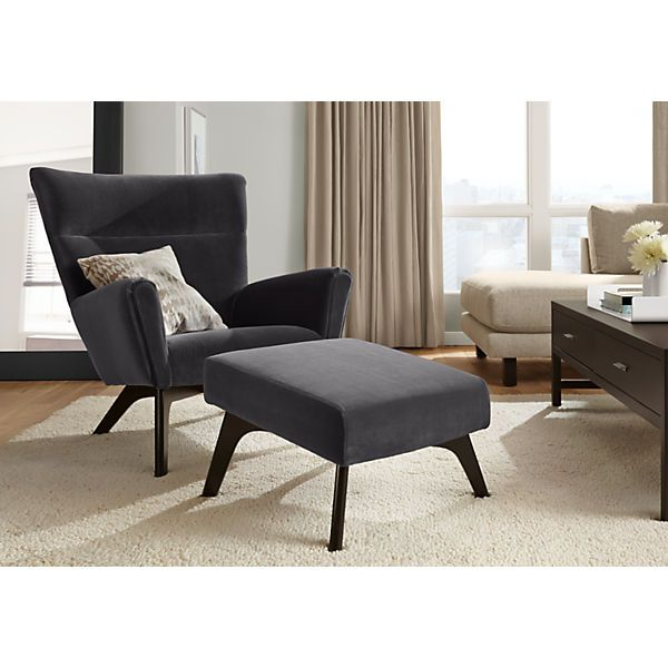 Boden Chair Ottoman Modern Accent Lounge Chairs Modern