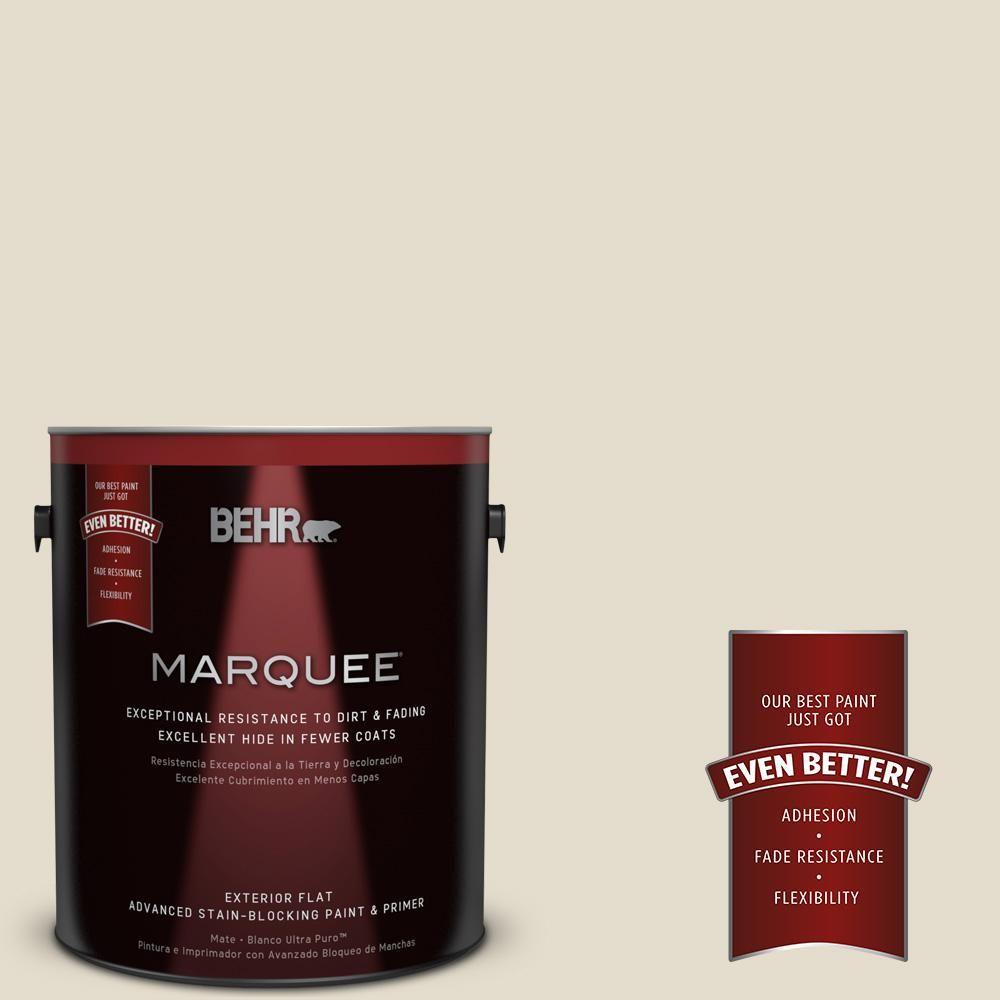 BEHR MARQUEE 1-gal. #PPU7-16 Vintage Linen Flat Exterior Paint