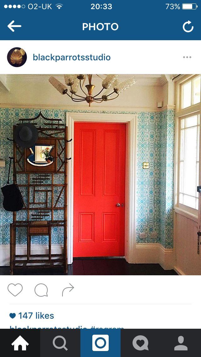 Painted Doors Great Interior Design Challenge Red Home Decor