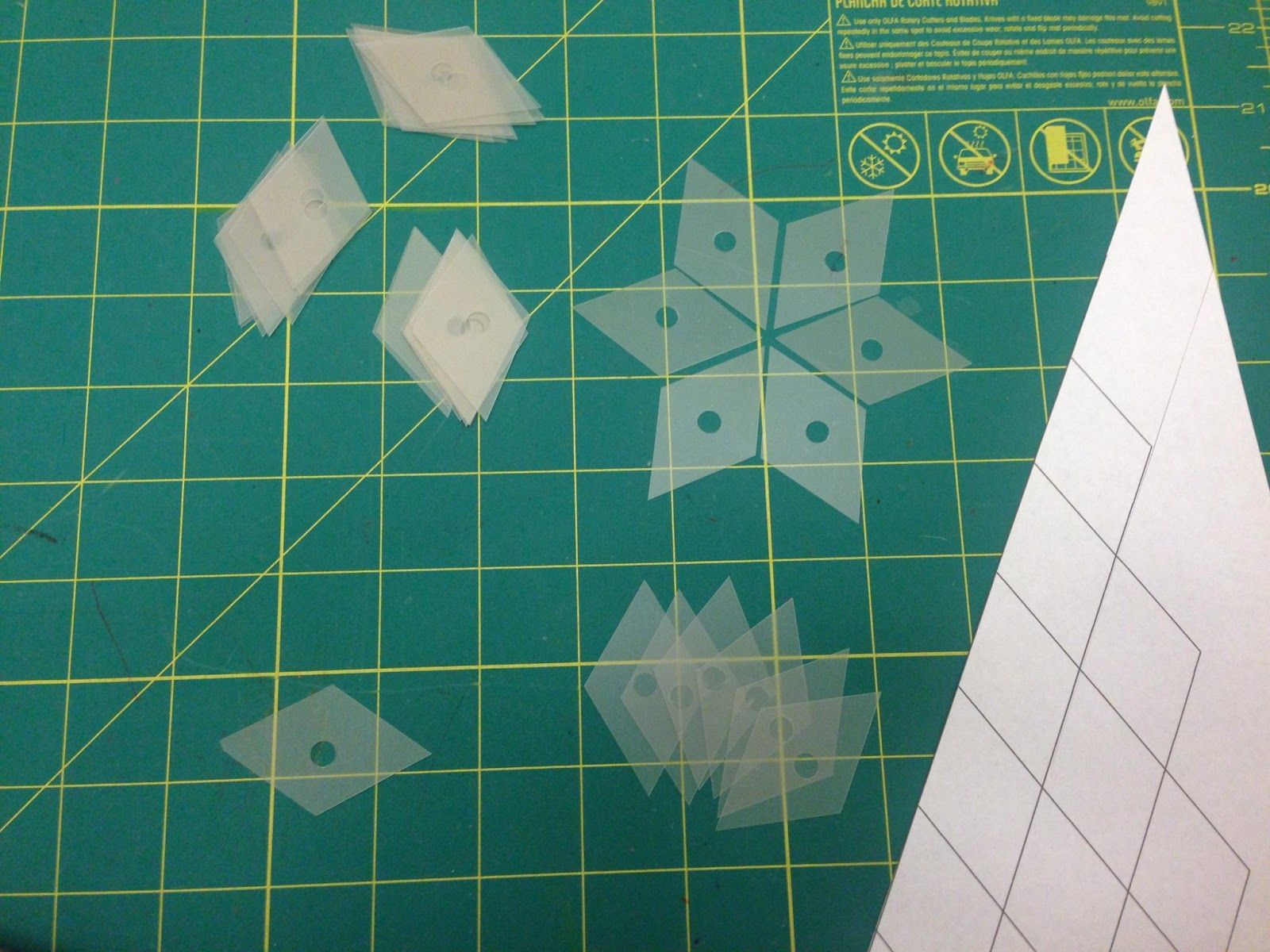 How To Make Your Own Plastic Templates for English Paper Piecing Quilts, Quilts, Quilts ...