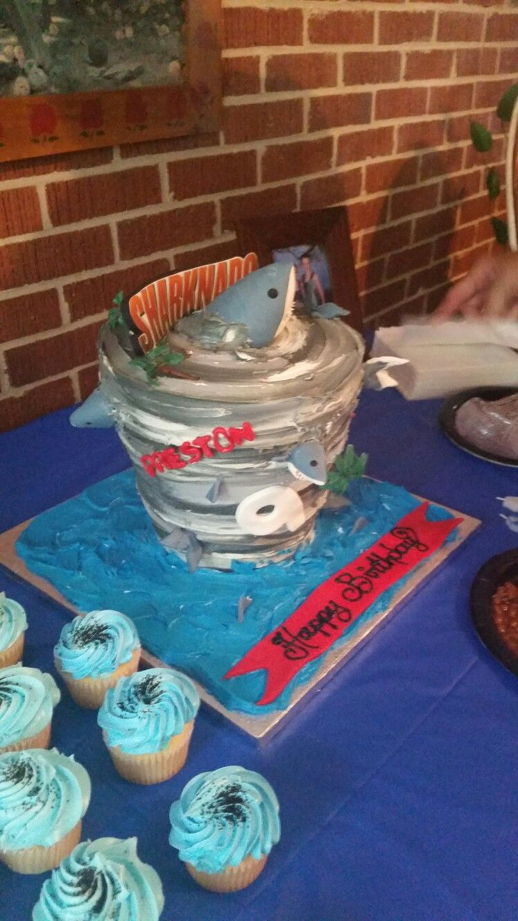 Sharknado Cake By Tracy Dumas With Images Sharknado Party