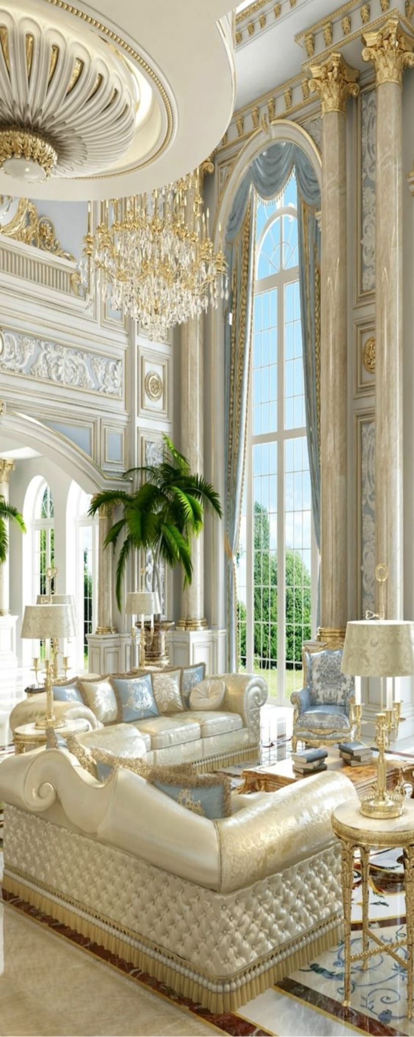 Breathtaking elegant and luxury living room decoration