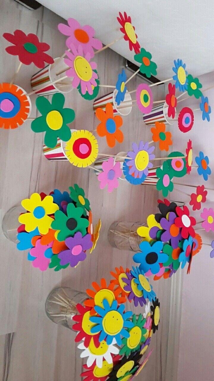Evadan Bir Demet Saksı çiçek Okulöncesi Hediye Art Pinterest