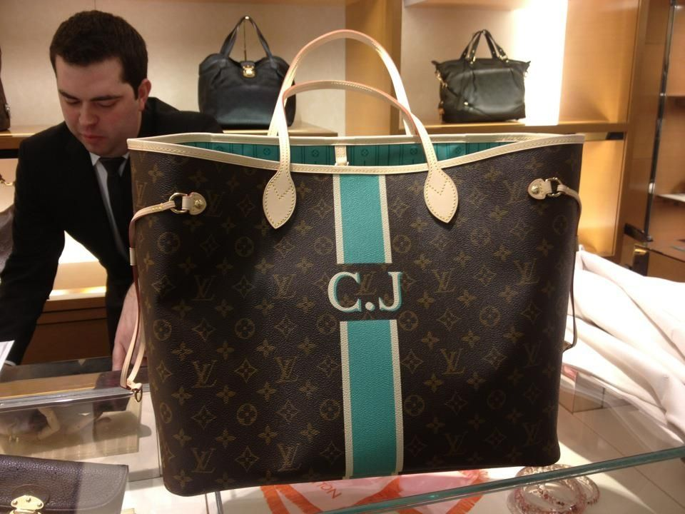 fd0029ab2f7 I can now mix my love for Tiffany Blue, Monograms, and Louis  Vuitton...might be my next purchase!!! Personalized  Mon Monogram Club -  Page 252 - PurseForum