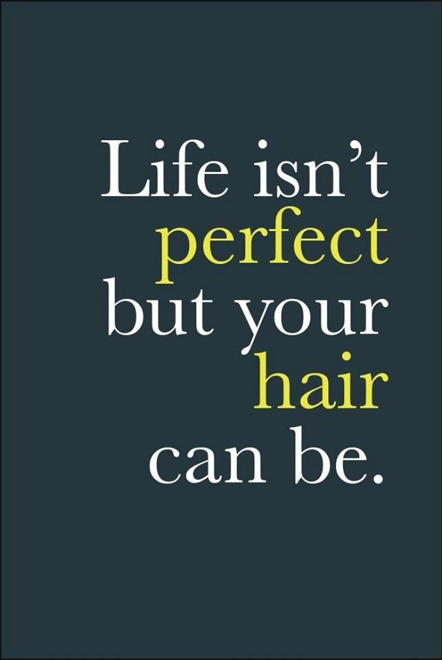 Life Isn T Perfect But Your Hair Can Be Hairstylist Quotes Hair Quotes Funny Hair Humor