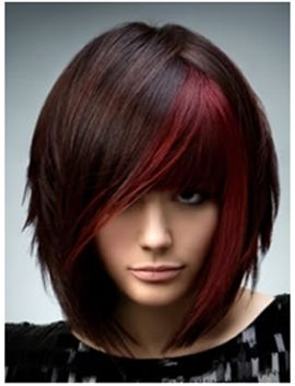 9 Funky Hairstyles For Medium Length Hair With Images Emo Hair Color Medium Hair Styles Brunette Hair Color