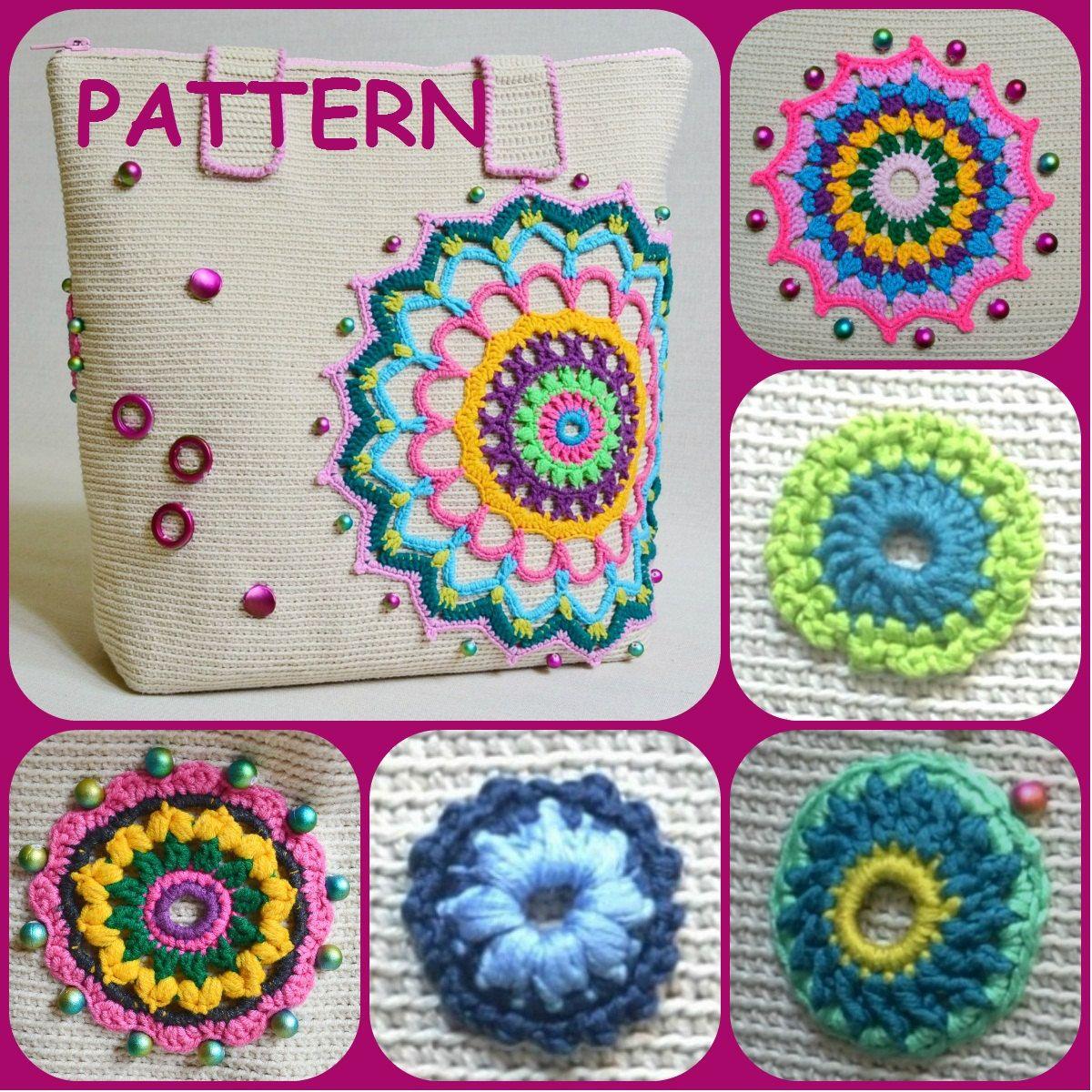 Crochet Mandala Pattern Set With Six Crochet Doilies Instant ...
