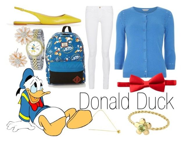 """Donald Duck~ DisneyBound"" by basic-disney ❤ liked on Polyvore featuring Dorothy Perkins, Michelsons, Frame Denim, Ann Taylor, Vans, eWatchFactory, Tiffany & Co., women's clothing, women and female"