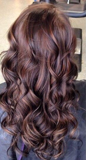 Mocha hair color with highlights