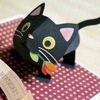 Pop Up Kitten Kagisippo Pop Up Cards 2 Pop Up Cards Pop Up Art Paper Toys
