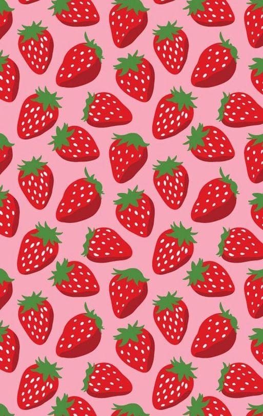 Strawberries Wallpaper Background In 2019 Pattern