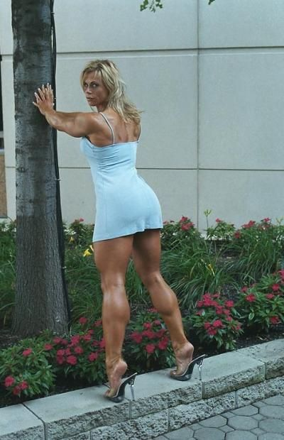 from Kareem female bodybuilder mini skirt