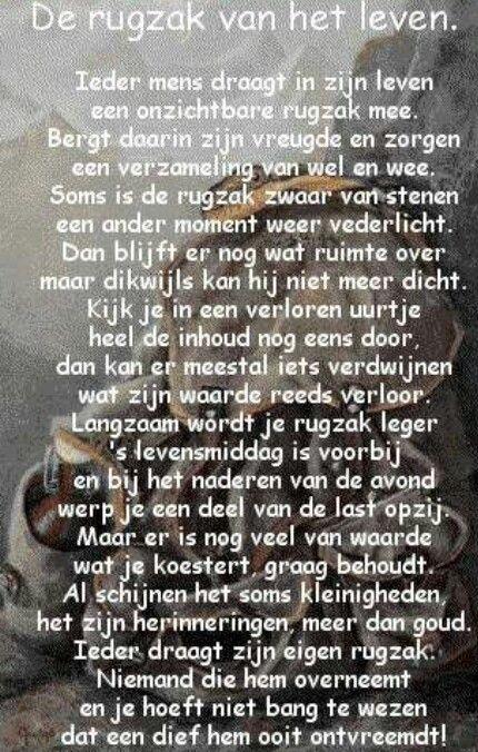 Niederländische Weihnachtsgedichte.De Rugzak Van Het Leven Holländische Sprüche Poetry Quotes Und