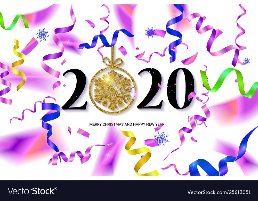 Happy new year 2020 Royalty Free Vector Image