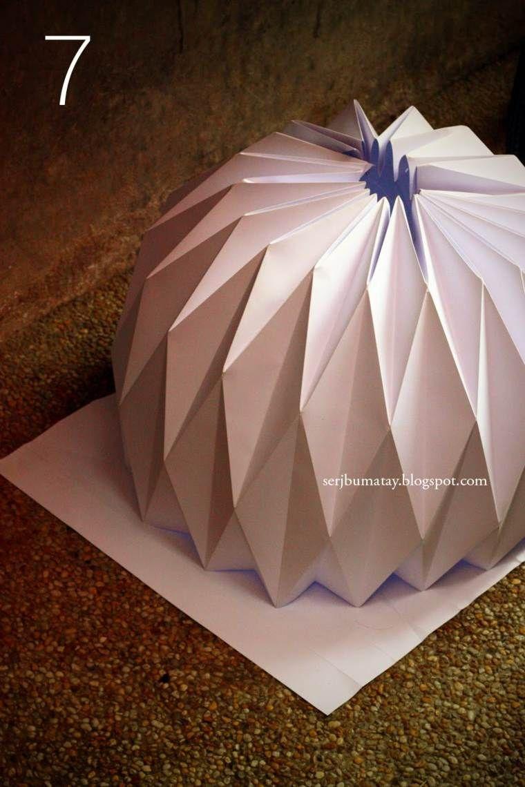 lampe origami l gante intemporelle et design maison. Black Bedroom Furniture Sets. Home Design Ideas